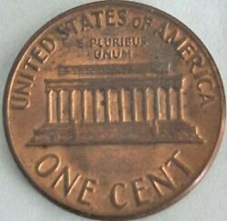 1969 Lincoln Penny Missing Initial Floating Roof