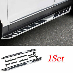 Silver Aluminum Running Board Side Step Nerf Bar Pedal For 2016-20 Cadillac Xt5