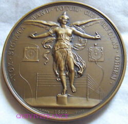 Med10534 - Medal Telegraphy Electric Napoleon Iii By Bovy 1866