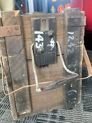 Wwii Wooden Military Ammo Box Crate