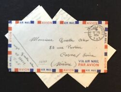 Vietnam - Frence Militair Forces - T.o.e. 1954 Airmail Cv With 2 Letters --f/vf
