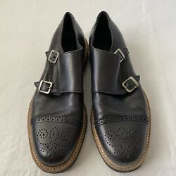 H 1 Men's Leather Dress Shoes Made In Italy Eur 41 Us 8. Style 18283