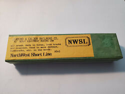 Hon3 Brass Diamond And Caldor Nwsl Flat Car Unpainted 41' Moving Car Withtrucks