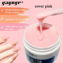 Extension Nail Gel Quick Builder Camouflage Pink Clear Nails Polish Manicure