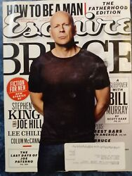Esquire June / July 2012 Holy Grail Bruce Willis Stephen King Joe Hill Article
