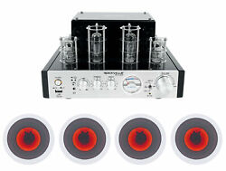 Rockville Blutube Amplifier/home Theater Receiver+4 6.5 Led Ceiling Speakers