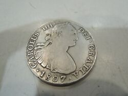 1807 Mexico Spain King Charles Iv Silver - Very Good Condition