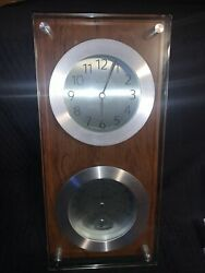 BULOVA WALL CLOCK THERMOMETER HYGROMETER AND CLOCK Works Great