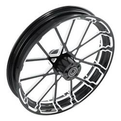 18and039and039-30and039and039 Aluminum Front Wheel Rim Hub Single Disc Fit For Harley Touring 08-21