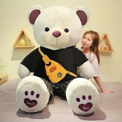 Large Cotton Teddy Bear American Giant Bear With T-shirt Dressed Soft Plush Toys