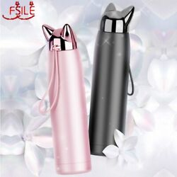 320ml/11oz Double Wall Thermos Stainless Steel Vacuum Flasks Cute Cat Fox Ear