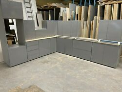 New Dust Grey Gloss Complete Kitchen Ex Display With Dust Grey Matching Units