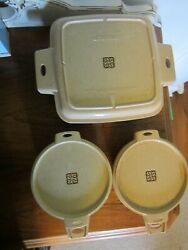 Littonware Lot Of 3 Microwave Cookware 1.5 Qt 39271 39272 / 2 Cup 39277 39278