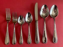 Reed And Barton Dorado Stainless Glossy Hammered Silverware Your Choice Flatware