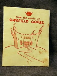 Vintage Garfield Goose Tv Show Frazier Thomas Greeting Card Proclamation King