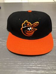 Vintage Mlb Baltimore Orioles Km Pro Cap Fitted Wool Hat Size 7