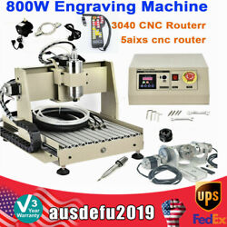 5 Axis Usb Cnc 3040 Router Wood Engraving Mill 3d Cutter Engraver +controller
