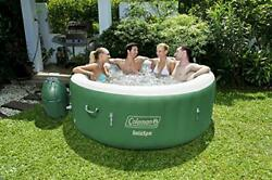 New Saluspa Inflatable Hot Tub Portable Hot Tub W/ Heated Water System Bubble Je