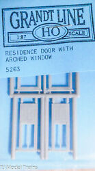 Grandt Line Ho 5263 Residence Door W/arched Windows Plastic 187th Scale