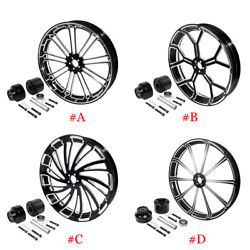 26x3.5and039and039 Front Wheel Rim Hub Single Disc Fit For Harley Touring Road Glide 08-21