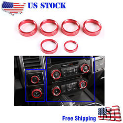 6pcs Air Conditioner Audio Switch Knob Ring Cover For Ford F150 Xlt Trim Us