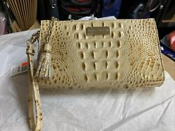 Brahmin Millie Leather Wristlet Clutch Bag In Champagne Melbourne $79.99