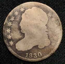 1830 Capped Bust Dime Silver Philadelphia Mint About Good Condition