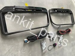 W463a W464 Mercedes Brabus Widestar Carbon Front Bumper Add-ons Covers+oem Leds
