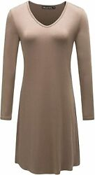 Othread And Co. Womenand039s Nightgown Comfy Sleepwear Knit Nightdress Long Sleeve Nigh