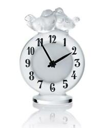 Lalique Crystal Antoinette Clock Clear 10066900 Brand Nib Swallows Save F/sh