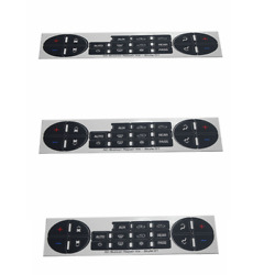 3x Radio Repair Button Dash Stereo Replacement For Gm 2007-2014 Decal Stickers
