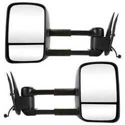 Power Heated Towing Side Mirrors For 99-06 Silverado Sierra 07 Classic Pair