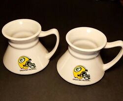 Green Bay Packers Cup Sculpted Travel Mug Set 2x Mugs Official Nfl Product