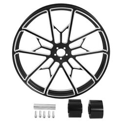 23and039and039x3.5and039and039 Cnc Aluminum Front Wheel Rim Hub Fit For Harley Dual Disc Road Glide