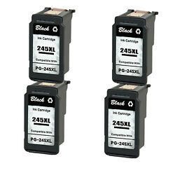 4pk Pg-245xl Remanufactured Ink Cartridge For Canon Pixma Ts3322 Mg2920 Mg2922