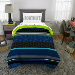 Fortnite Gaming Neon Boys Twin Comforter And Sheets 4 Piece Bed In A Bag