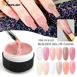 Nail Extension Gels Thick Builder Natural Camouflage Uv Polish 0.5oz Manicure