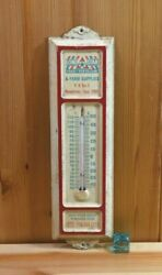 Vintage Lone Star Feed And Farm Advertising Thermometer Nacogdoches Texas, Metal