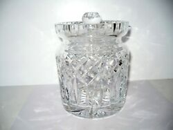 Waterford Lismore Lead Crystal Biscuit Barrel Candy Jar Cookie Canister Large