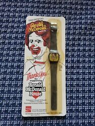Vintage 1984 Official Ronald Mcdonald House Watch On Card Coca-cola Fast Food