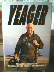 Yeager An Autobiography By Chuck Yeager 1985 Hc.dj. Signed Ed. Very Good Plus