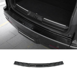Black Steel Outer Rear Bumper Protector Plate 1pcs For Lincoln Navigator 2018-21