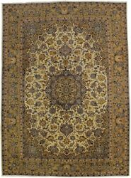 Traditional Beige Oversized 10x14 Vintage Hand Knotted Oriental Rug Decor Carpet