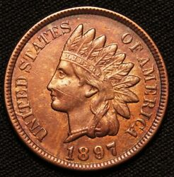 1897 Indian Head Penny, Cleaned Reverse