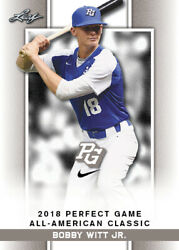 10 Ct Lot 2018 Bobby Witt Jr Leaf Perfect Game Nike Aa Classic Aflac Limited-ed