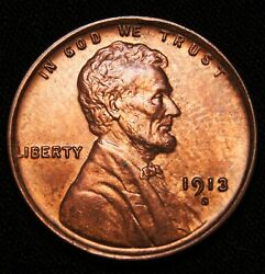1913-s Lincoln Wheat Cent, Ms++++red