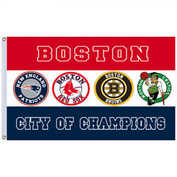 Boston City of Champions Team Banner College RoomDecor Pary Flag