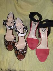 2 New Vince Camuto Shoes --2 Pairs--style Sessen And Citriana Size 7m--awesome