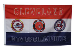 Cleveland City of Champions Team Banner College RoomDecor Pary Flag