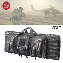 Tactical Double Rifle Carbine Bag Soft Padded Pistol Case Hunting Shooting Range